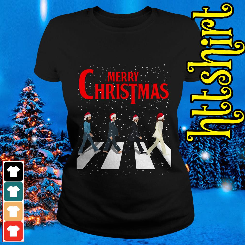 The Beatles Abbey Road Merry Christmas Ladies tee