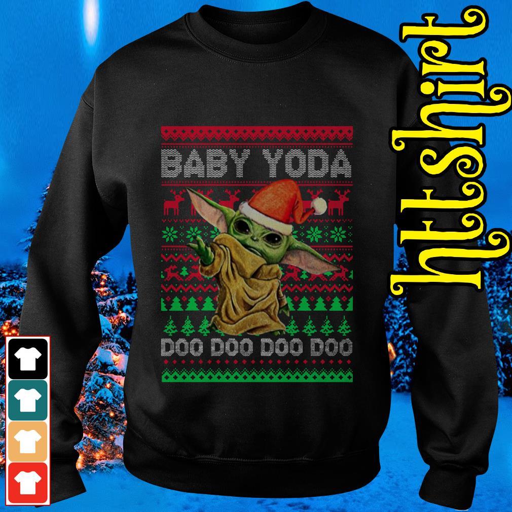 The Mandalorian Baby Yoda Doo Doo Doo ugly Christmas Sweater