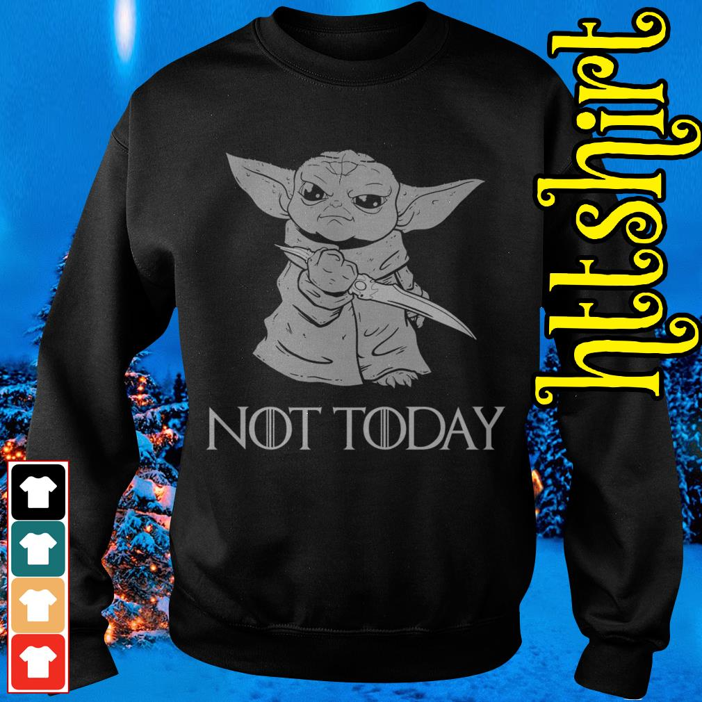 Baby Yoda not today Game of Thrones Sweater