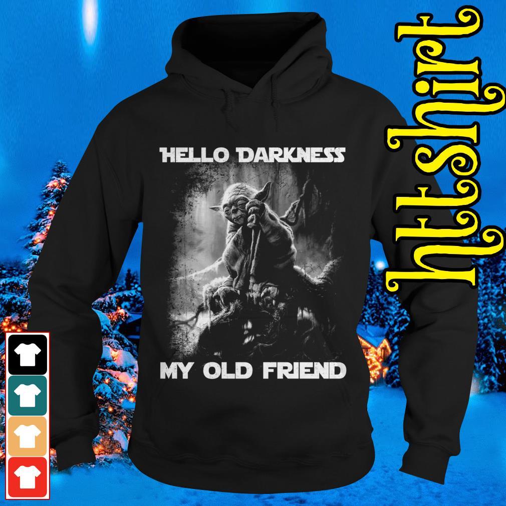 Master Yoda hello darkness my old friend Hoodie