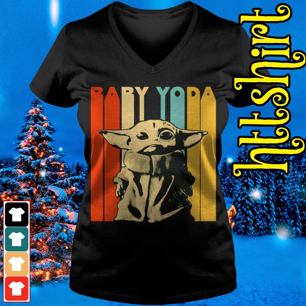 The Mandalorian baby Yoda vintage V-neck t-shirt