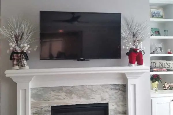 Mantle TV Mount - Picture Off