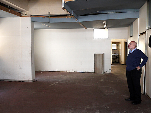Prof Dwolatsky looks around the space that will, one day, be his office.