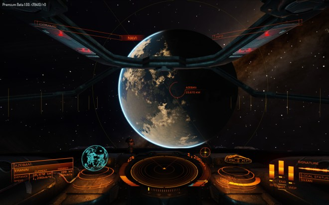 Eventually, you'll be able to land on planets. Right now they're just scenery.