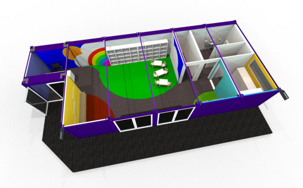 A 3D illustration of the inside of a TinkerTain hub
