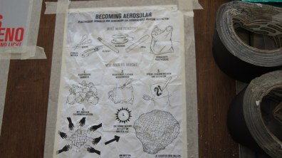 Designs to make a hot air balloon out of plastic bags, powered by the sun alone