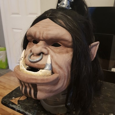 Grom Hellscream 3D Printed Head 2