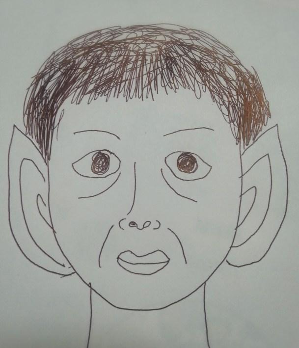 顔が変わった人の似顔絵
