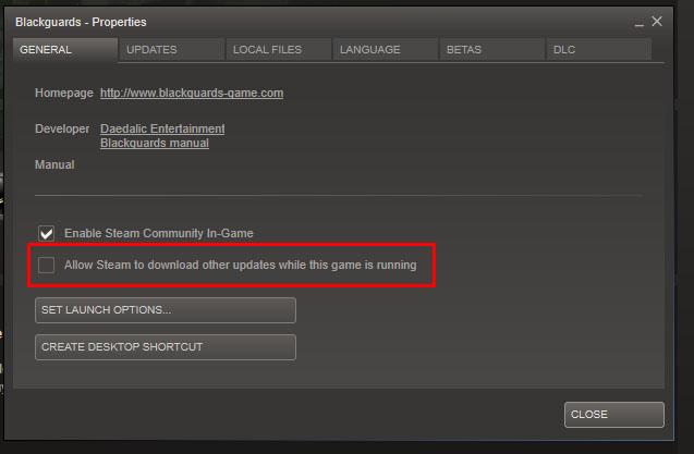 Downloads em segundo plano no Steam