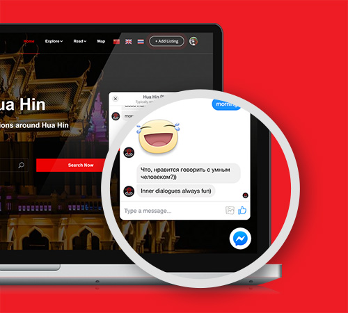 Hua Hin Places Business Listing Feature Facebook Chat