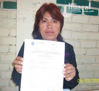 La Lic. Esmeralda Fuentes Huertas, secretaria general del SUTEP Huaral