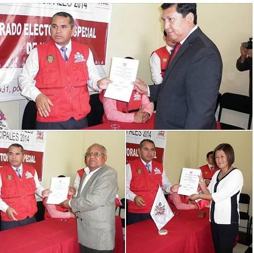 alcaldes de chancay huaral reciben credenciales