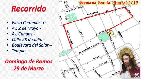 recorrido procesional domingo ramos-huaralenlinea agenda programa semana santa 2015