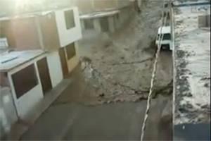 impresionantes imagenes de caida de Huaico-peruenlinea