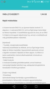 Huawei P9 Lite Android 7.0 és EMUI 5.0 frissítés