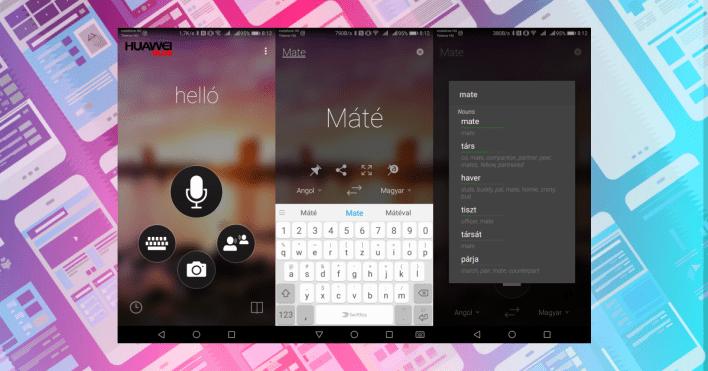 Neurális offline fordító a Huawei Mate 10 Prón