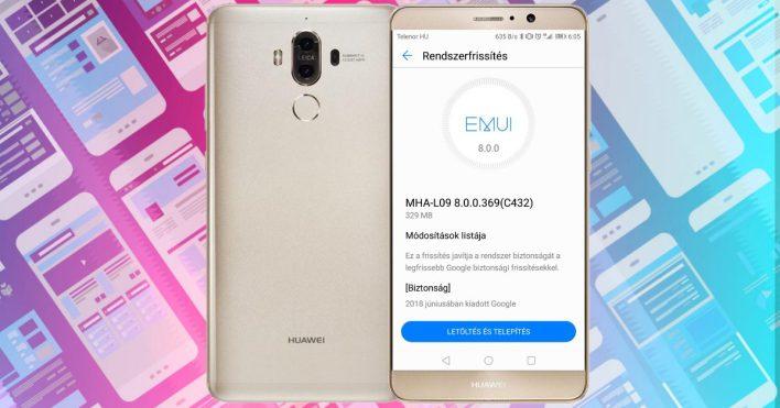 Kisebb frissítés érkezett a Huawei Mate 9-re
