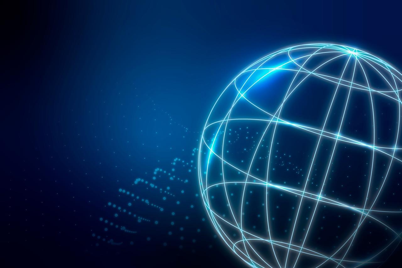 ilustração de um globo conectado