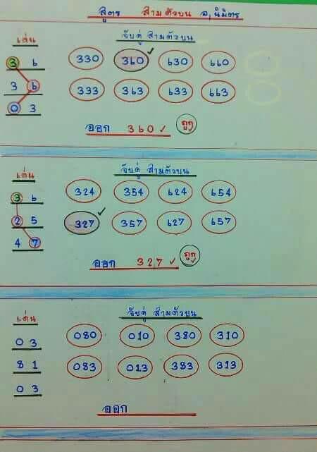 เลขแม่น สองตัวบน อ.นิมิตร 1/8/60 ผลงานดีงวดนี้