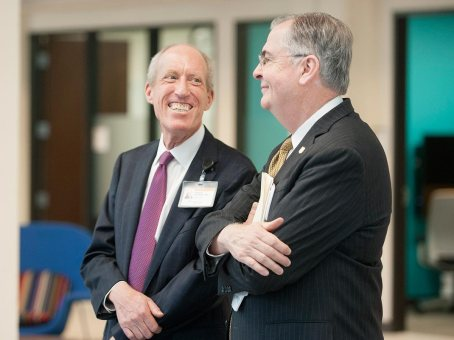 Dr. Hatch pictured with Dean Abraham from the Wake Forest School of Medicine.