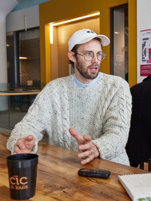 Tyler Mathews, executive director of Venture Café St. Louis, is passionate about bringing diverse groups of people together.