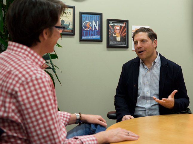 Dave Messina talks with Karen Barnes about the role Venture Café played in getting his start-up off the ground.