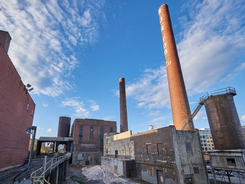 The entire Bailey Power Plant complex once showed its age and disrepair.