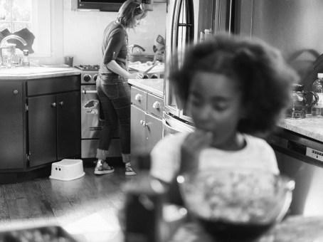 Claire in her kitchen