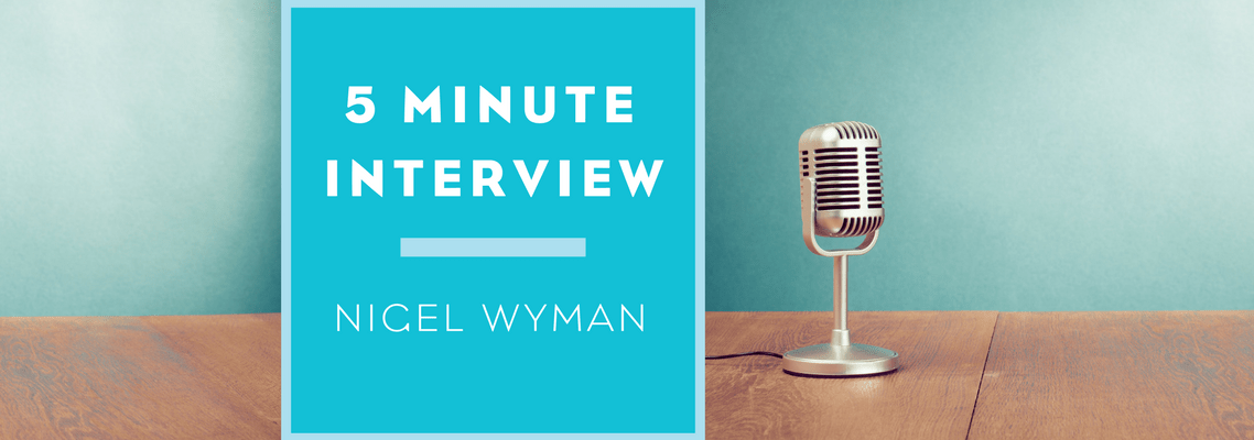 Gardners Books. 5 Minutes With Nigel Wyman