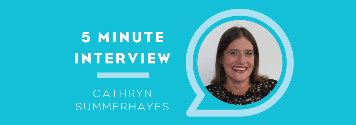 5 Minutes with Cathryn Summerhayes