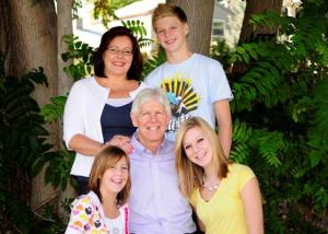 Mission Aviation Fellowship President John Boyd with him family, wife Tanya