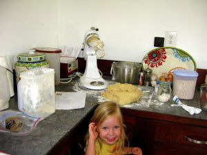 """Rebecca Cannon's Daughter """"cooking"""" in their Indonesian Kitchen"""