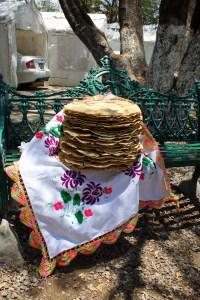 Authentic giant mexican tortillas