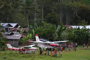 MAF base in Kalimantan Indonesia