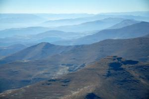 Lesotho from the air