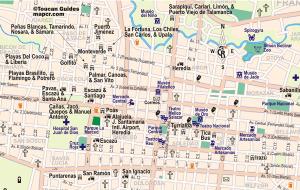 A map of San Jose, Costa Rica