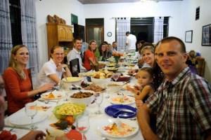 Tarakan team Thanksgiving, 2010.  Photo by Tripp Flythe.