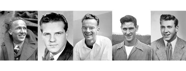 Nate Saint, Jim Elliot, Peter Fleming, Roger Youderian, and Ed McCully