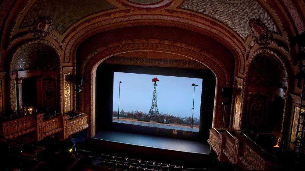 Installation view, Paramount Theatre Austin.