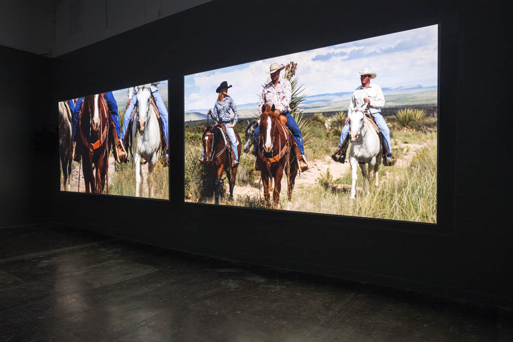 Movie Mountain (Méliès) 2011, Installation view. Sound Speed Marker, Ballroom Marfa, 2014. Photo: Frederik Nilsen