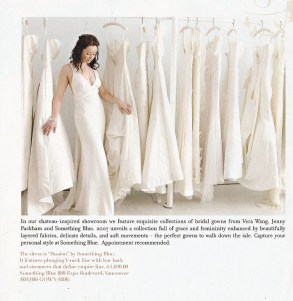 Angela Hubbard photography photographs Something Blue wedding dress store for Aisle Walk magazine