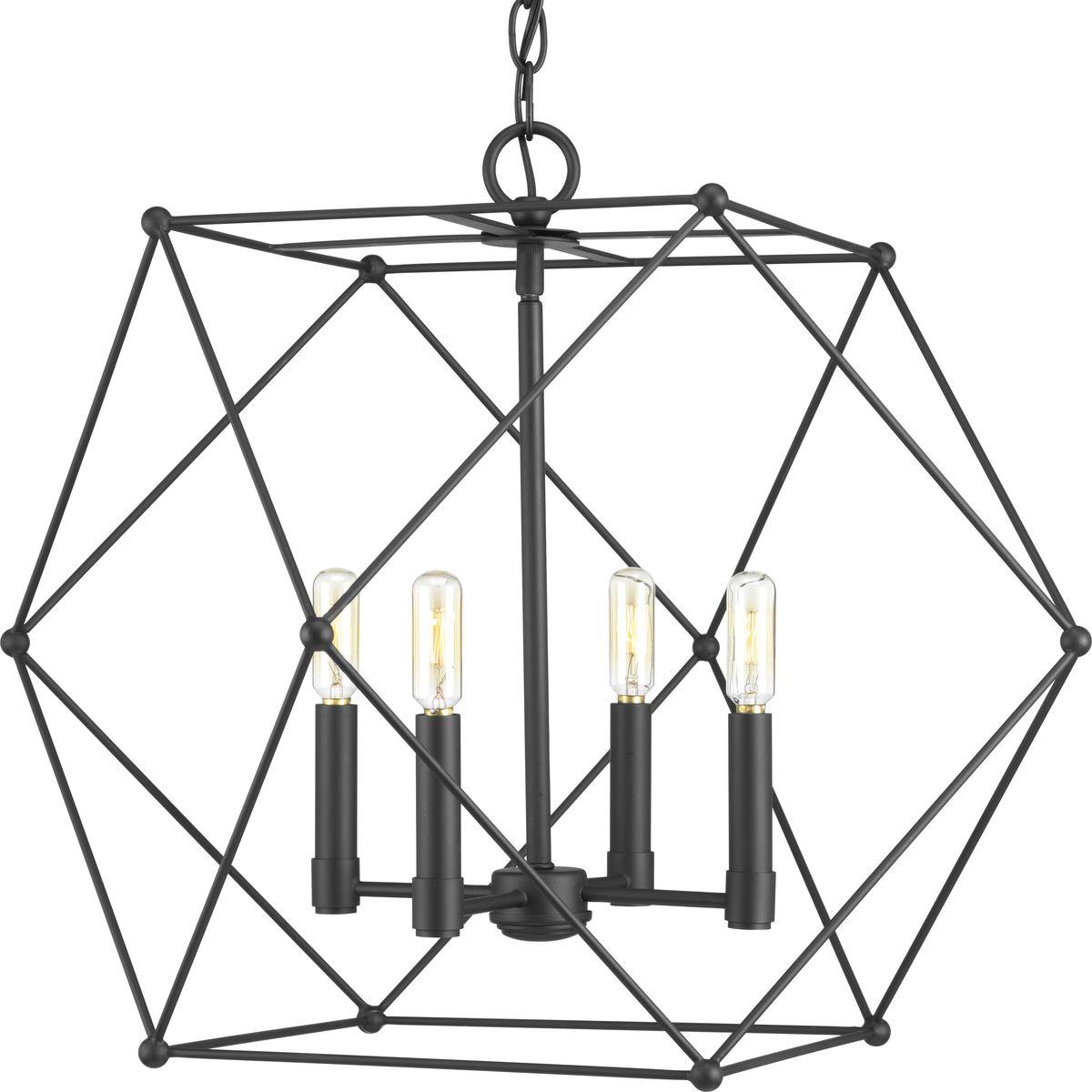 Spatial Four Light Pendant