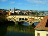 Ponte Vecchio from Uffizi Gallery window.