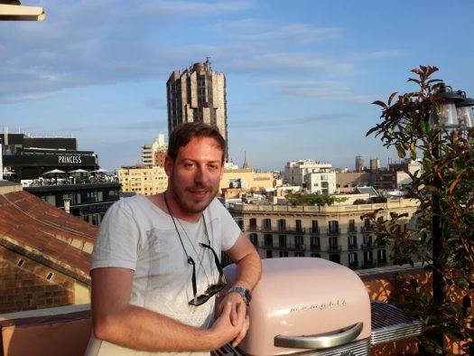 Tim Cakir on the @weareserviceclub terrace