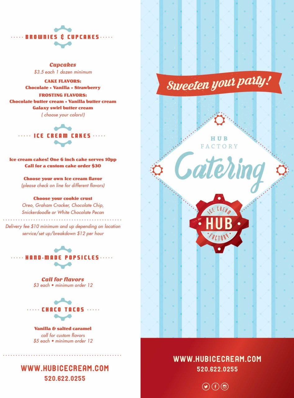 Ice Cream Catering Menu - Page 1