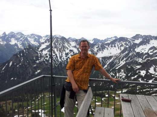 Ich auf dem Fellhorn (bzw. an der Bergstation)
