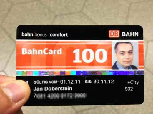 Bild von einer Bahncard 100