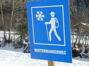 Bild von dem vorzüglich ausgeschilderten Winterwanderweg
