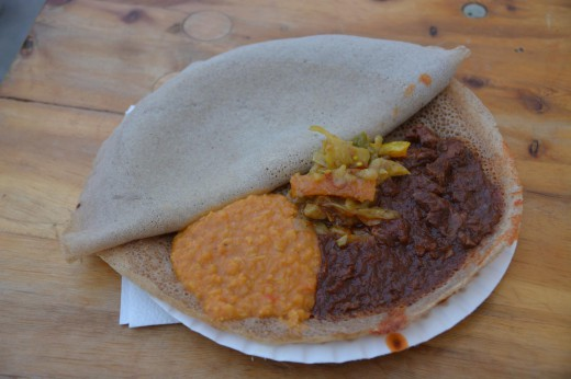 Gemischter eritreischer Teller