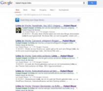 Screenshot von Google für meine Links der Woche